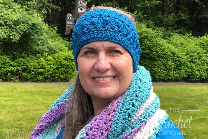 Crochet Hugs & Kisses Headband Pattern