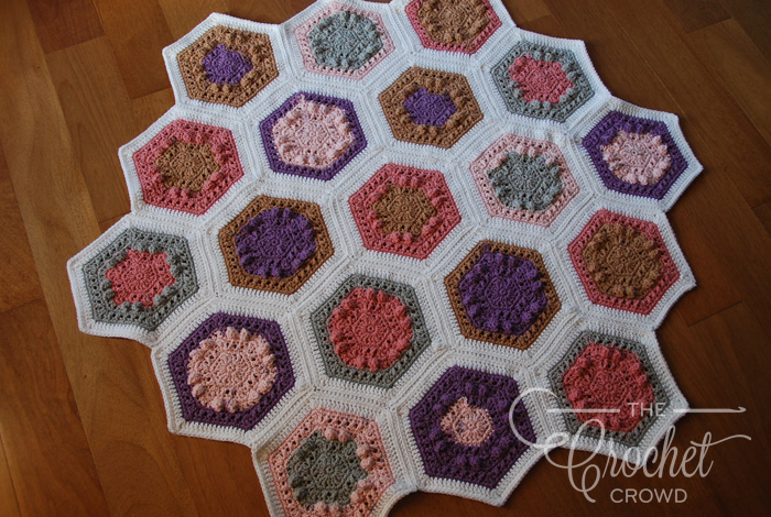 Crochet Hugs & Kisses Hexagon Quilt by Jeanne Steinhilber