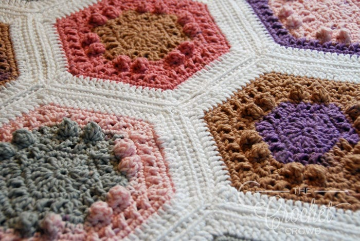 Crochet Hugs & Kisses Hexagon Quilt by Jeanne Steinhilber