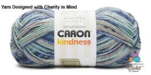 Caron Kindness Yarn Blue Ribbon