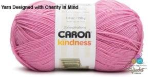 Caron Kindness Yarn Pink Taffy