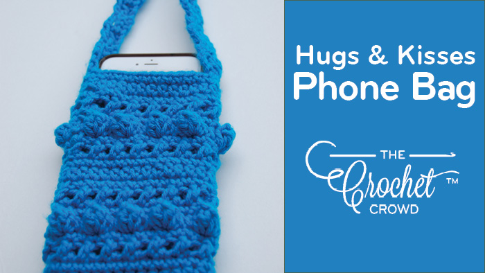 Crochet Hugs & Kisses Cell Phone Sling Bag by Jeanne Steinhilber
