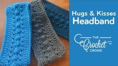 Crochet Hugs & Kisses Headband Earwarmer by Jeanne Steinhilber