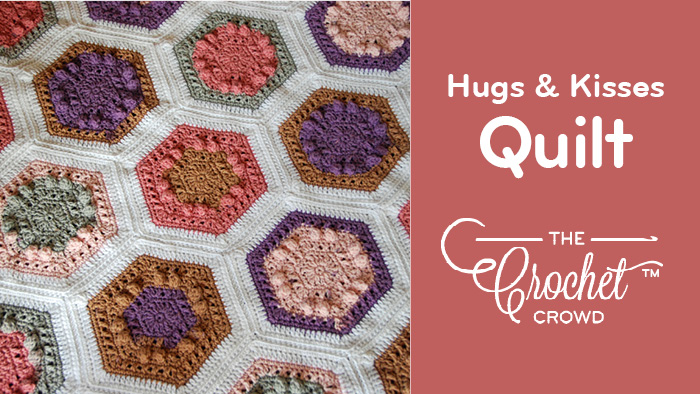 Crochet Hexagon Quilt Blanket Pattern