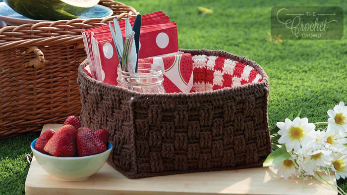 Crochet Picnic Basket Pattern + Tutorial
