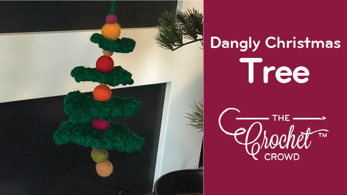 Crochet Dangly Christmas Tree