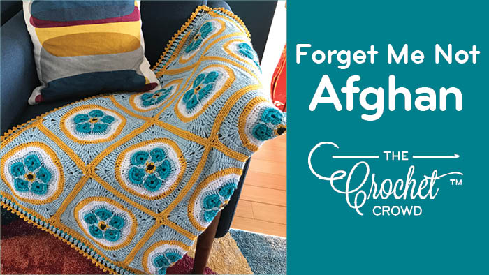 Crochet Forget Me Not Afghan
