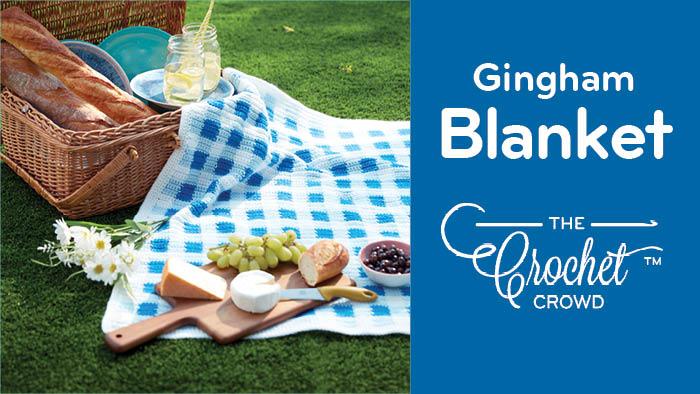 Crochet Gingham Picnic Blanket Pattern
