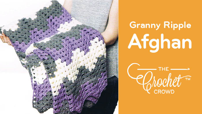 Crochet Granny Ripple Afghan Kindness