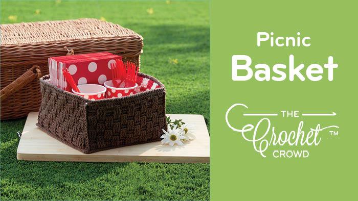 Crochet Picnic Basket