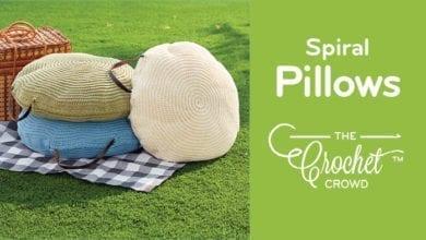 Crochet Spiral Pillows
