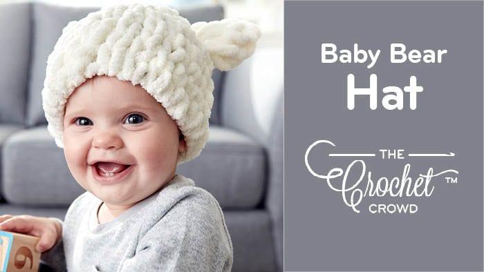 Baby Bear Hat with Bernat Alize Blanket EZ