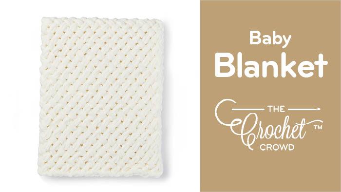 EZ Criss-Cross Baby Blanket Pattern