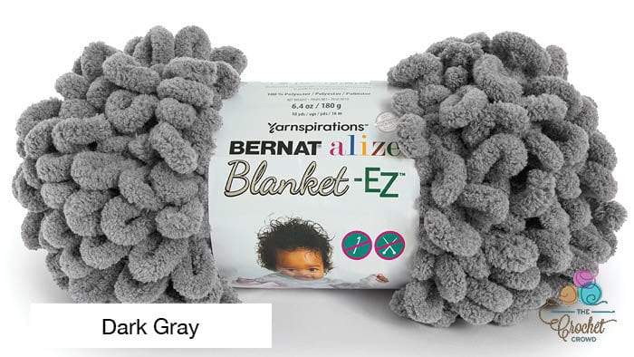 Bernat Alize Blanket EZ Dark Gray Yarn