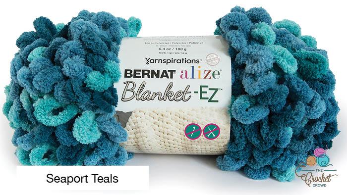 Bernat Alize Blanket EZ Seaport Teals Yarn