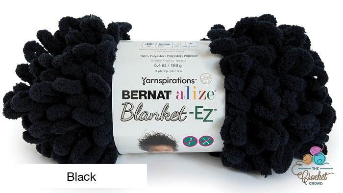 Bernat Alize Blanket EZ Yarn Black Yarn