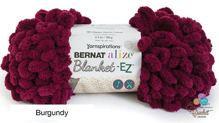Bernat Alize Blanket EZ Yarn Burgundy