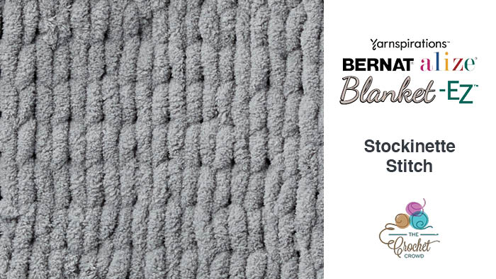 Bernat Alize Blanket EZ Stockinette Stitch