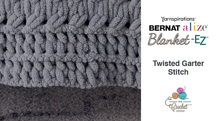 Bernat Alize Blanket EZ Twisted Garter Stitch