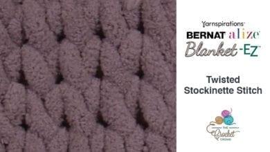Bernat Alize Blanket EZ Twisted Stockinette Stitch