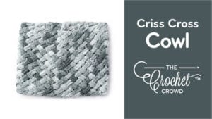 Criss Cross Cowl with Bernat Alize Blanket EZ