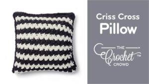 Criss Cross Pillow with Bernat Alize Blanket EZ
