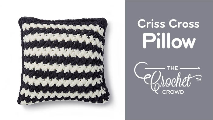 Criss Cross Pillow with Bernat Alize Blanket EZ