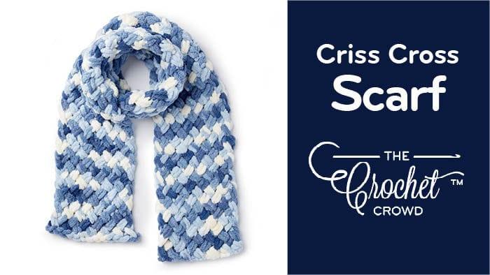 Criss Cross Scarf with Bernat Alize Blanket EZ