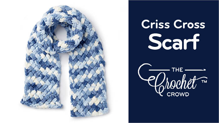 Criss Cross Scarf with Bernat Alize Blanket EZ