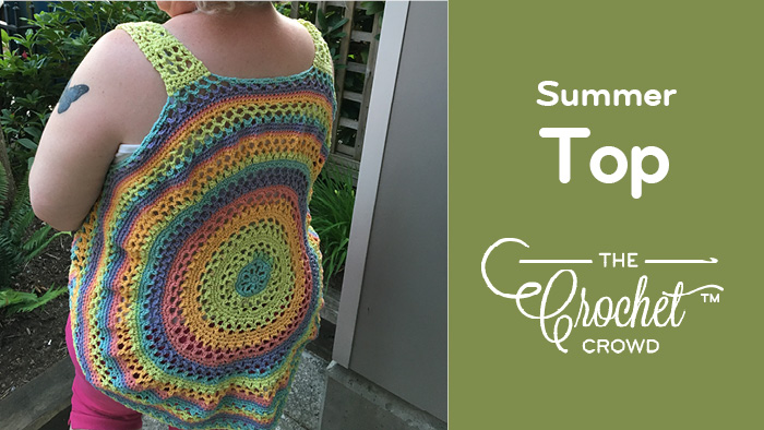 Crochet Summer Sorbet Top by Donna Bondy