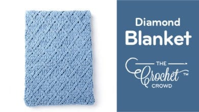 Diamond Blanket with Bernat Alize Blanket EZ