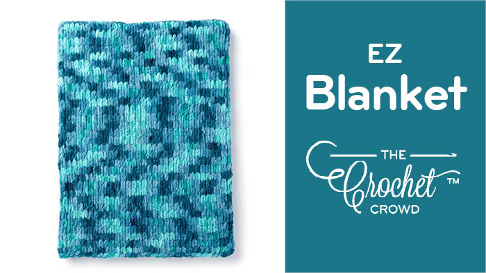 EZ Blanket with Bernat Alize Blanket EZ