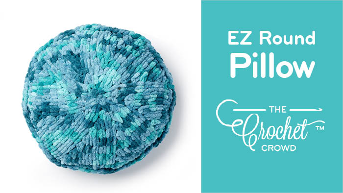 EZ Round Pillow with Bernat Alize Blanket EZ