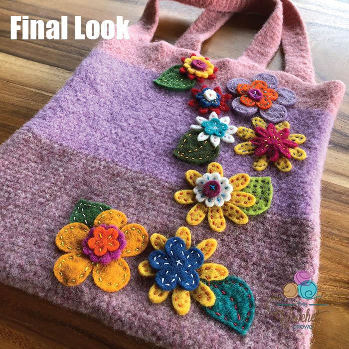 Happy Felted Flower Bag Final Look 2
