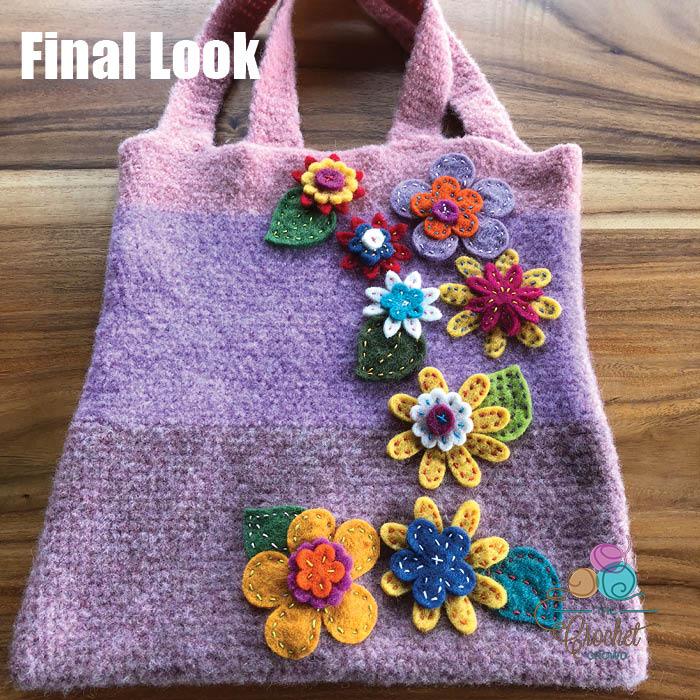 Happy Felted Flower Bag Final Look
