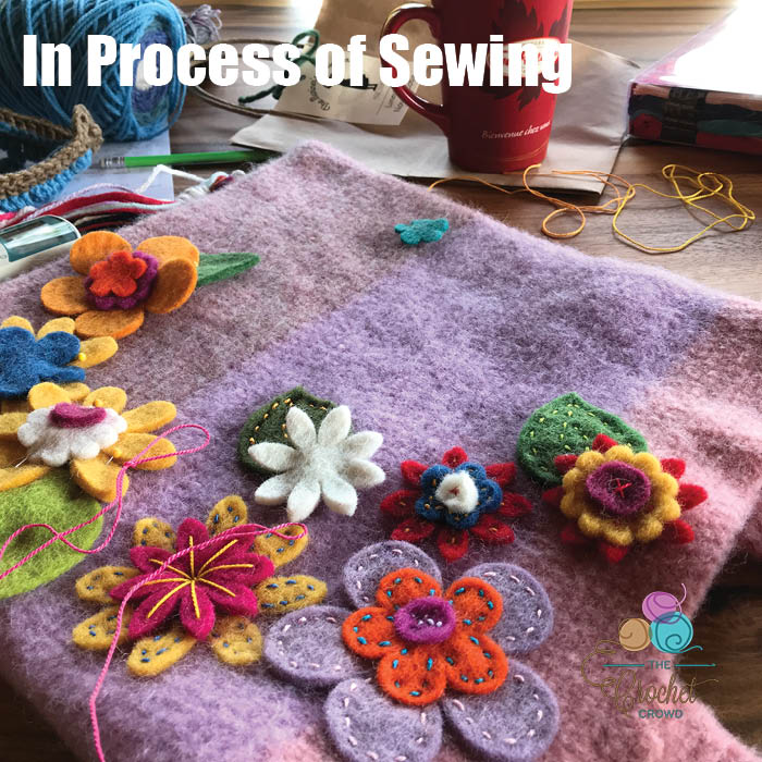 Happy Felted Flower Bag Sewing Process