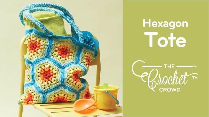 Crochet Hexagon Beach/Yarn Tote Pattern