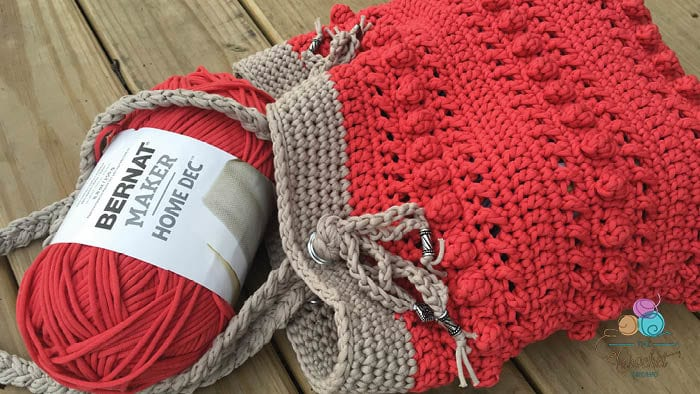 Crochet Hugs & Kisses Tote by Jeanne Steinhilber