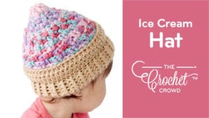 Crochet Ice Cream Swirl Baby Hat