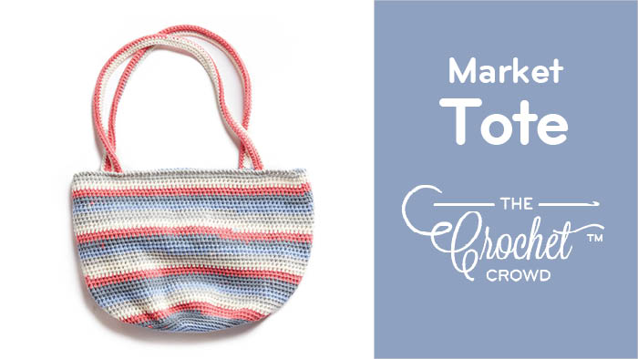 Crochet Market Tote Bag with Caron Cotton Cakes