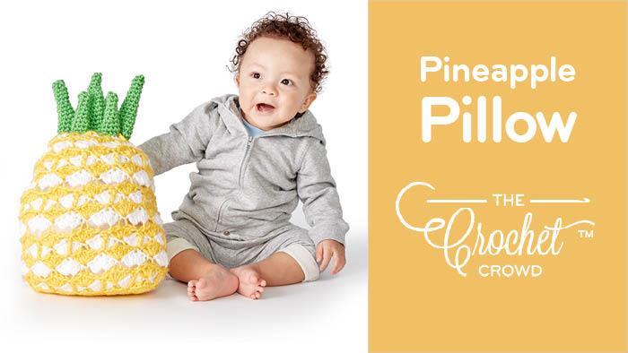 Crochet Juicy Pineapple Pillow Pattern