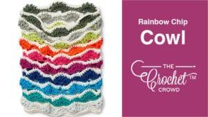 Caron X Pantone Rainbow Chip Cowl