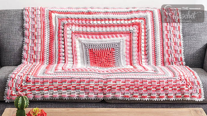 Crochet The Study of Texture Blanket | The Crochet Crowd