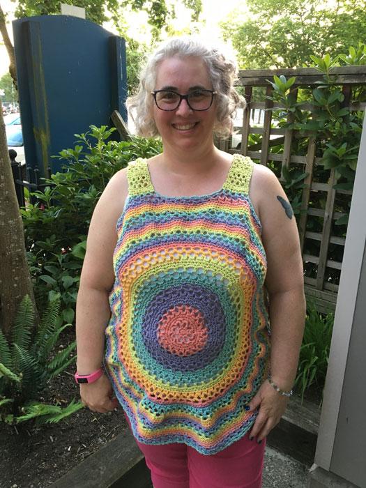 Crochet Summer Sorbet Top by Donna Bondy