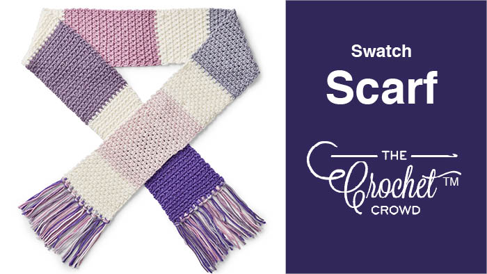 Crochet Caron X Pantone Swatch Scarf | The Crochet Crowd