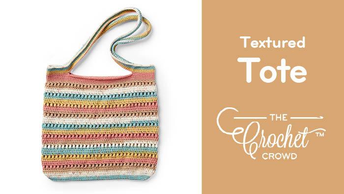 Crochet Textured Tote