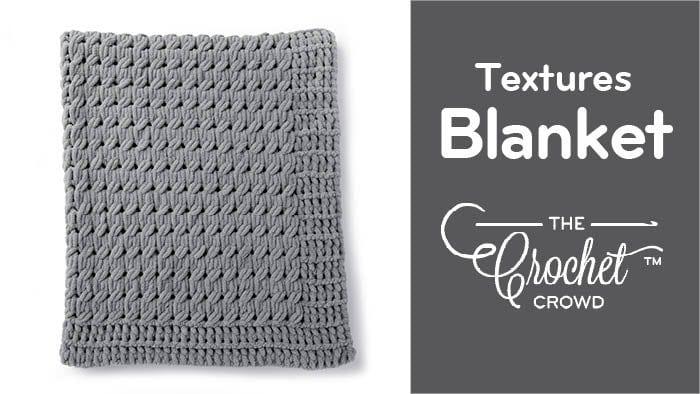 Textures Blanket with Bernat Alize Blanket EZ