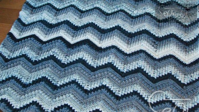 #CrochetBB Beans and Bobbles Chevron Afghan by Jeanne Steinhilber
