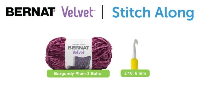 Bernat Blanket Stitch Along with Velvet