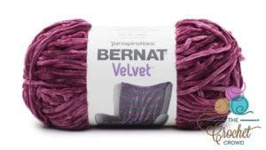 Bernat Velvet Burgundy Plum Yarn